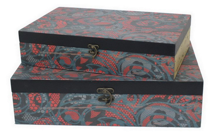 Asst. of 2 Patterned Boxes