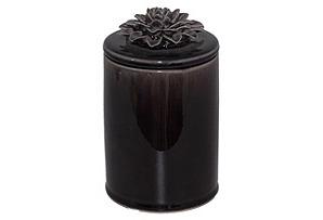 Ceramic Flower Jar w/ Lid