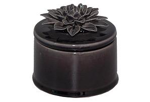 Ceramic Flower Lid Jar