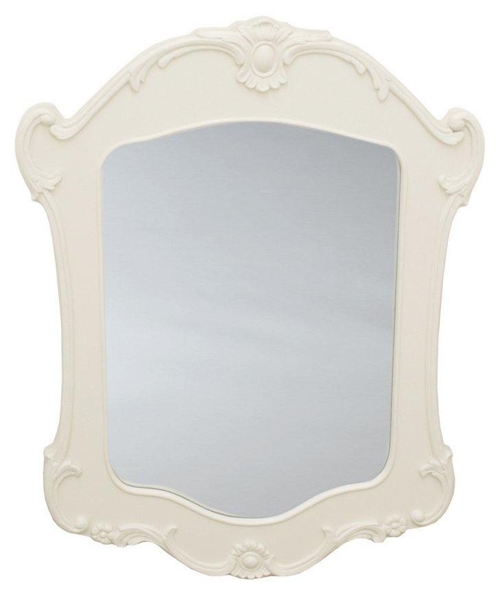 Chrissy Wall Mirror, Cream
