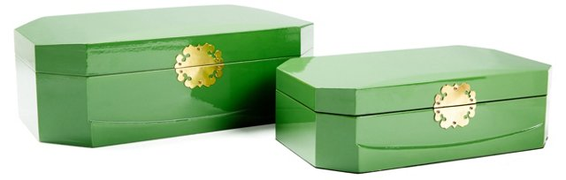 Asst. of 2 Royal Boxes, Green