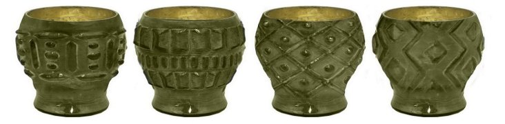 "6"" Olive Votive Holders, Asst. of 4"