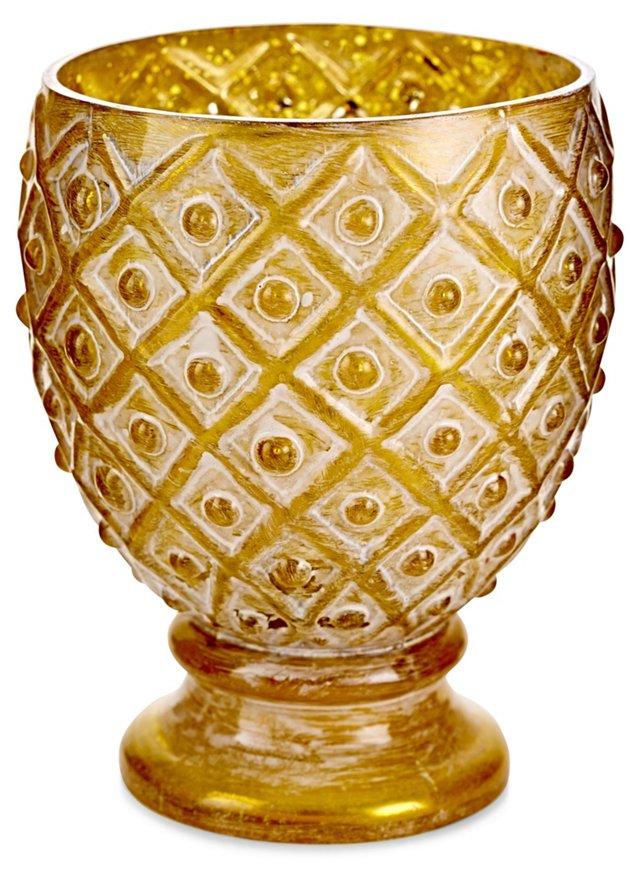 Textured Glass Candleholders, Asst. of 4