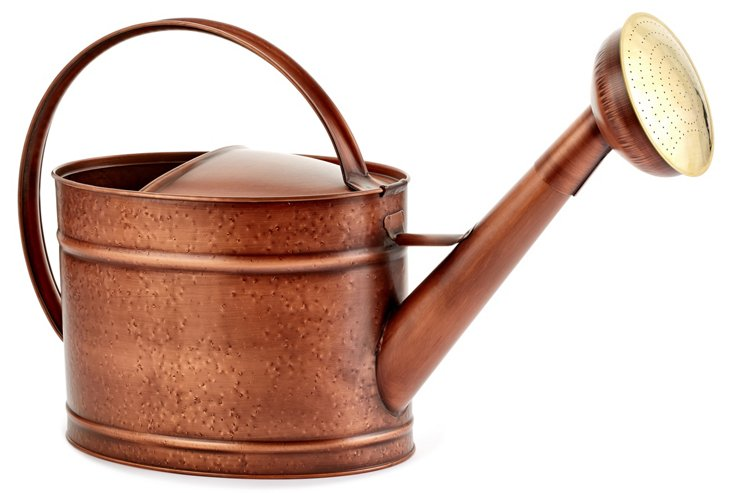 "24"" Metal Watering Can, Copper"