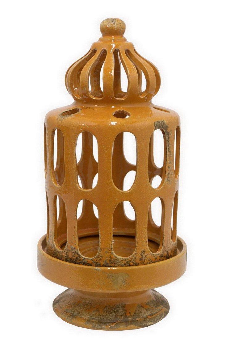 """15"""" Orange Cage Candleholder"""