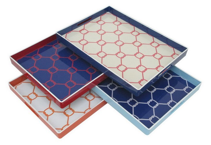 Asst. of 4 Knot Pattern Trays