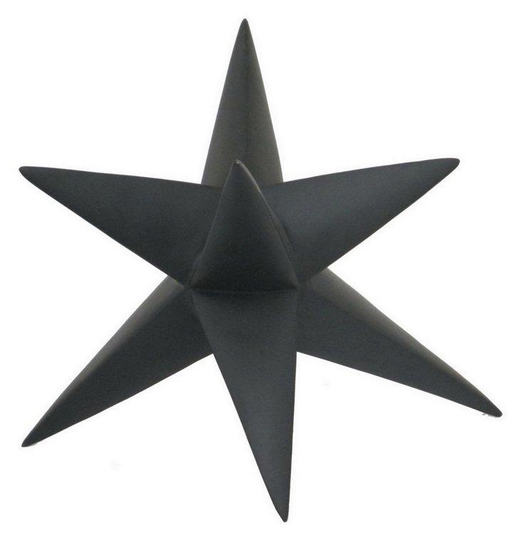 "12"" Star Table Decor, Black"
