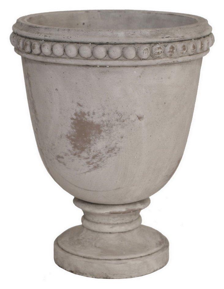 """16"""" Terracotta Planter, Gray"""