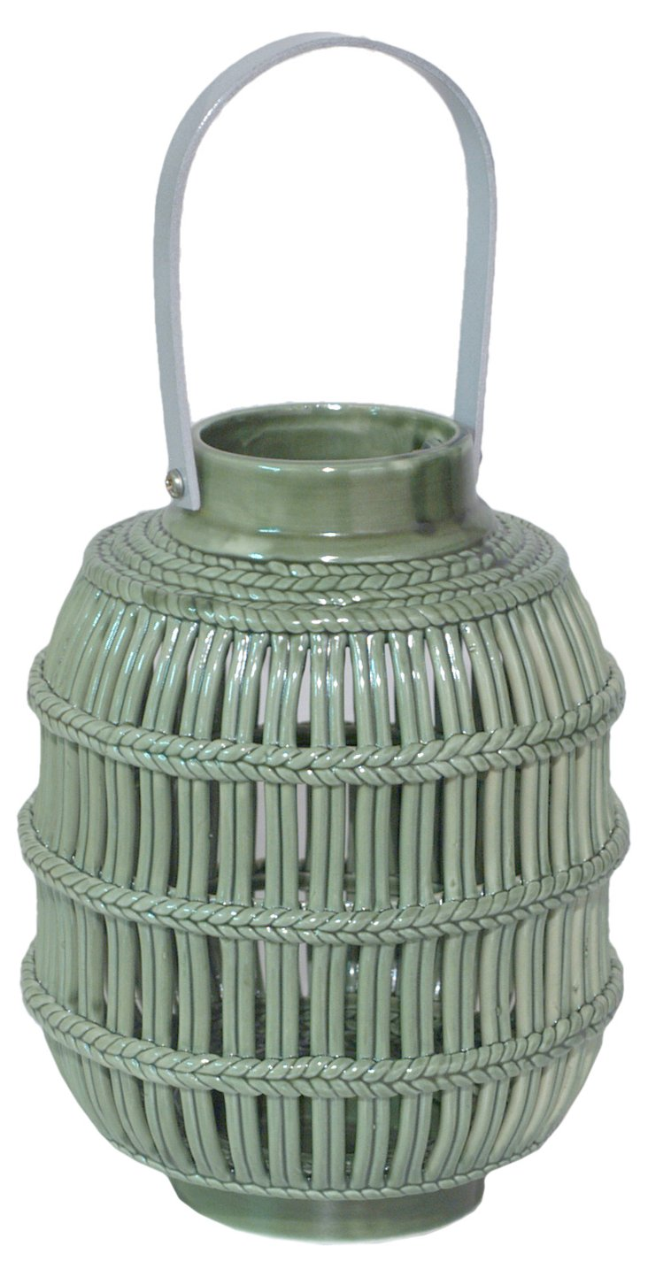 """7"""" Ceramic Lantern, Cream"""