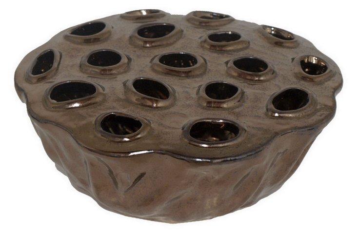 "8"" Pod Vase, Bronze"