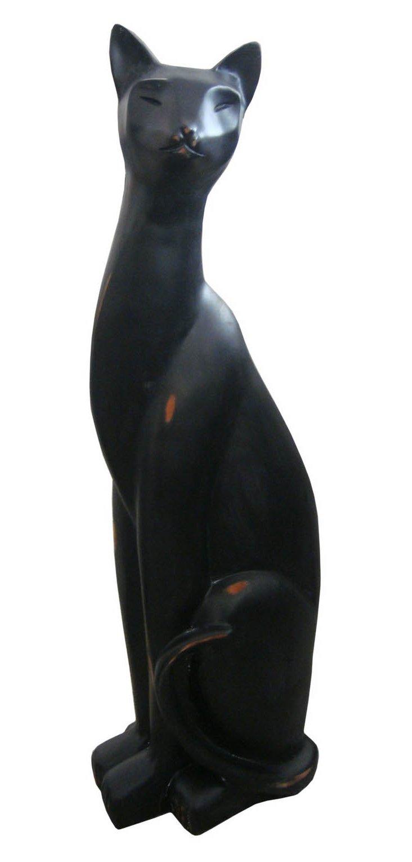 "26"" Cat Figurine, Black"