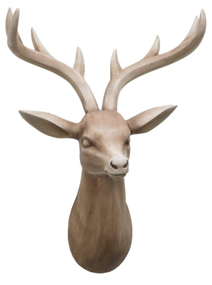Deer Head Wall Decor, Natural