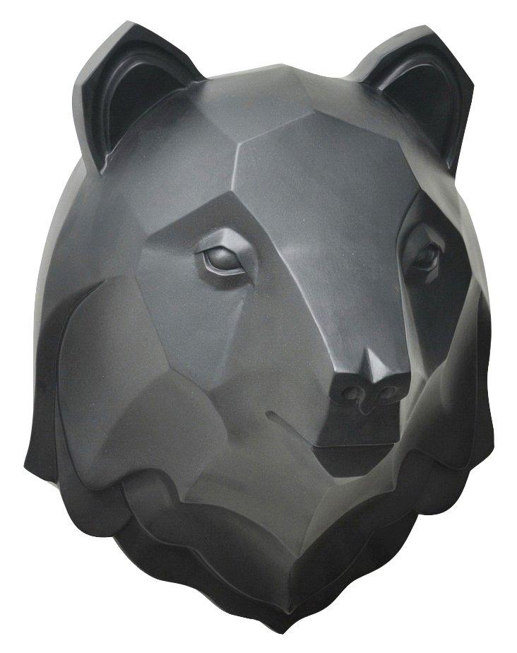 Bear Head Wall Decor, Black