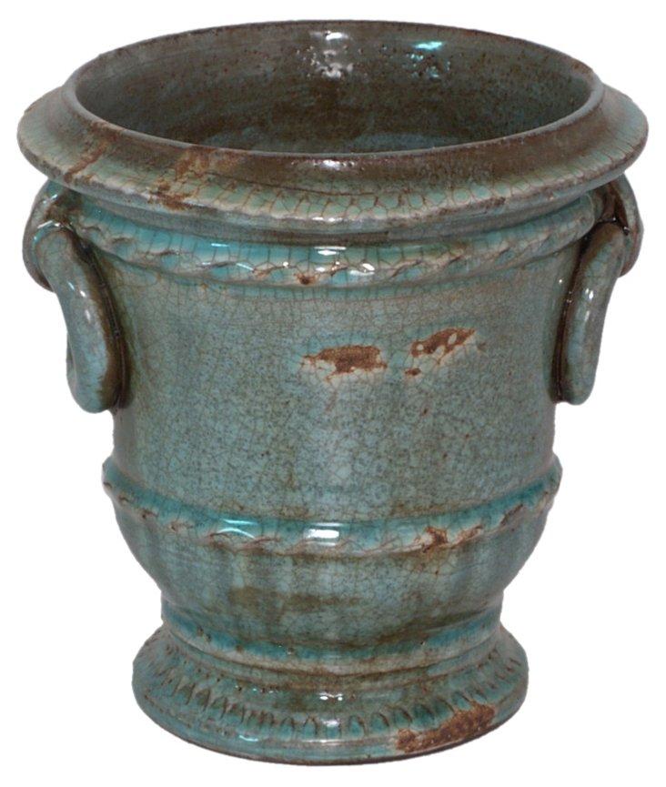 """7"""" Terracotta Planter, Blue"""