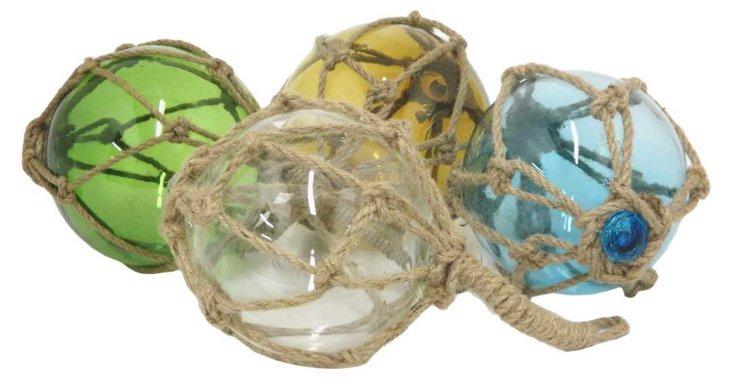 Asst. of 4 Glass Floats, Multi