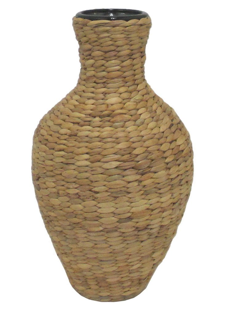 "15"" Water-Hyacinth Vase, Brown"