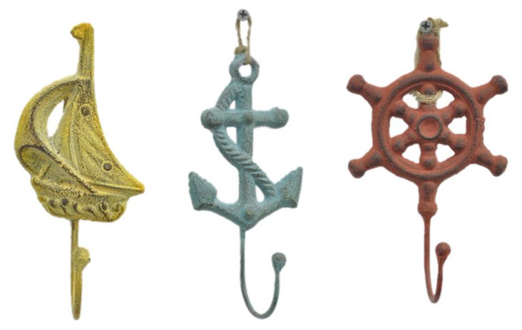 Cast Iron Nautical Hook
