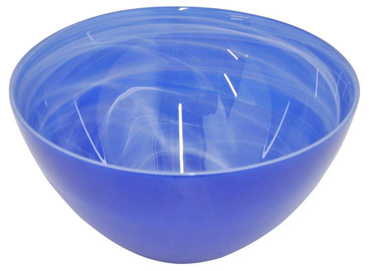 "12"" Glass Bowl, Cobalt"