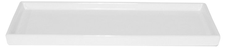 "16"" Essential Ceramic Tray, White"