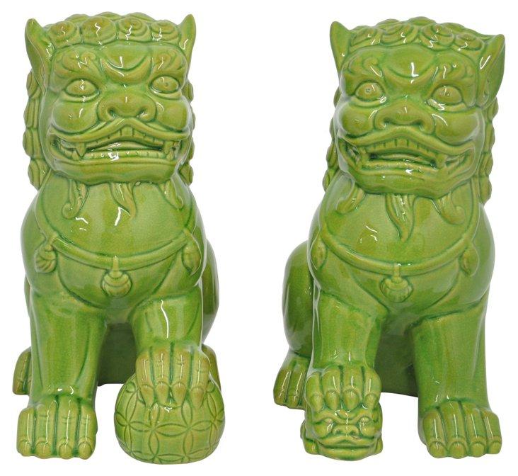 Asst. of 2 Foo Dogs, Green