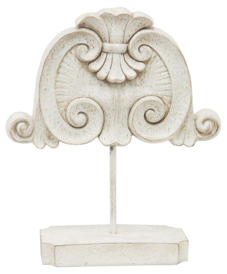 """9"""" Classical Architecture Decor, White"""