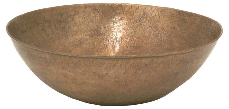 """12"""" Metal Bowl, Bronze"""