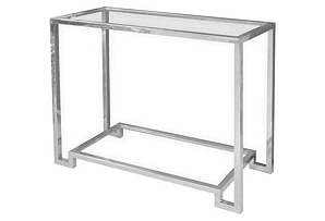 """Sadie Glass 36"""" Console, Silver"""