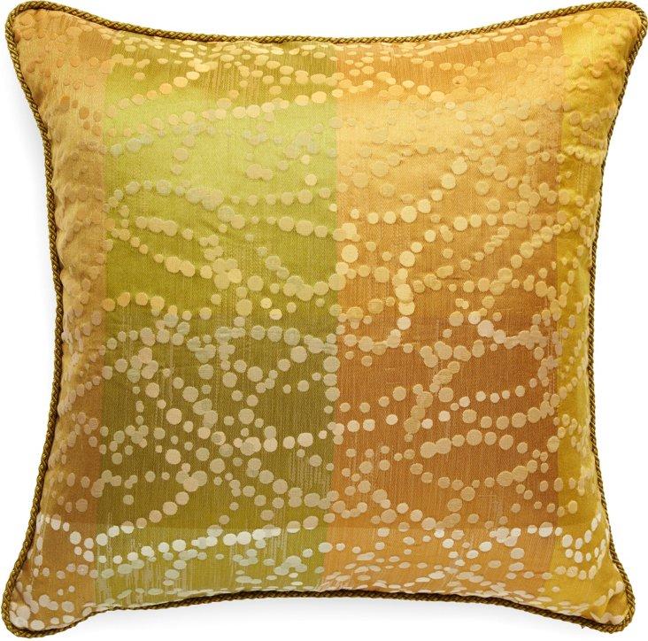 Custom Polka Dot & Stripe Pillow III