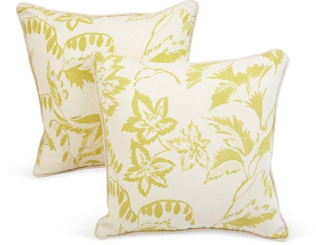 Michael Devine Absinthe Pillows, Pair I