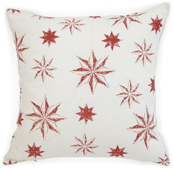 Michael Devine Celeste Scarlet Pillow
