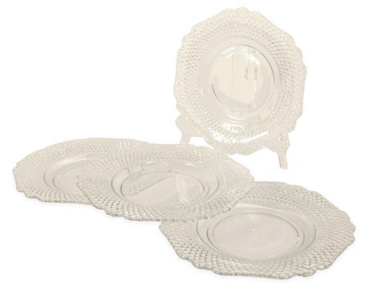 Hexagonal Dessert Plates, S/4