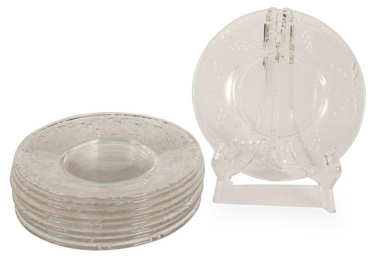 Glass Tapas Plates, S/9