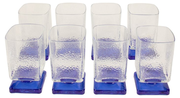Footed Glasses, S/8