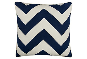 Chevron 18x18 Pillow, Indigo