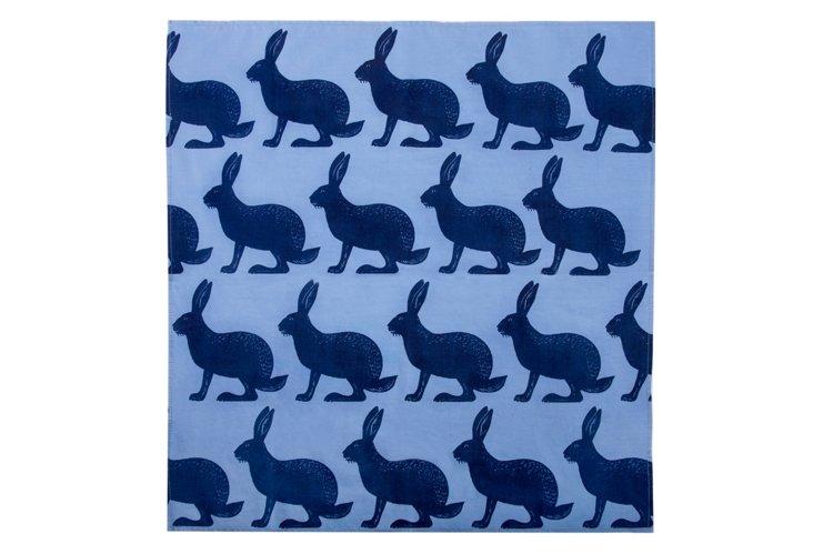 Rabbits Bandana, Blue