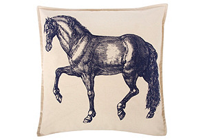 Equus 18x18 Pillow, Ink