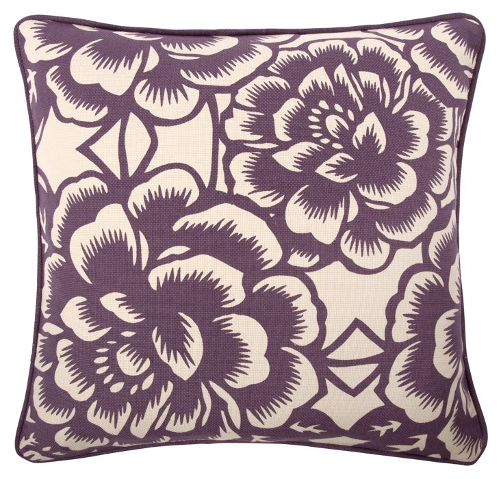 Bloom 18x18 Pillow, Violet