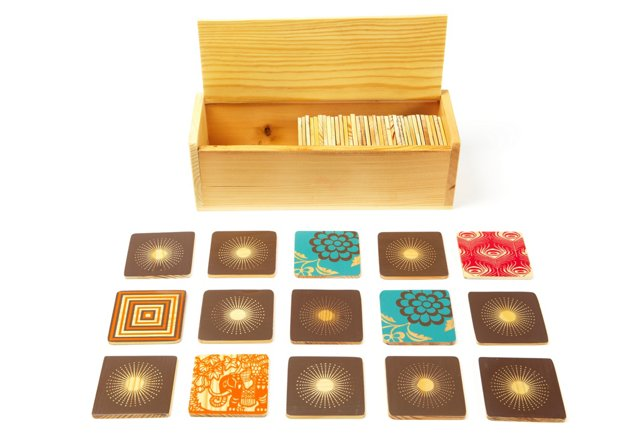 50 Piece Memory Game w/Wooden Box