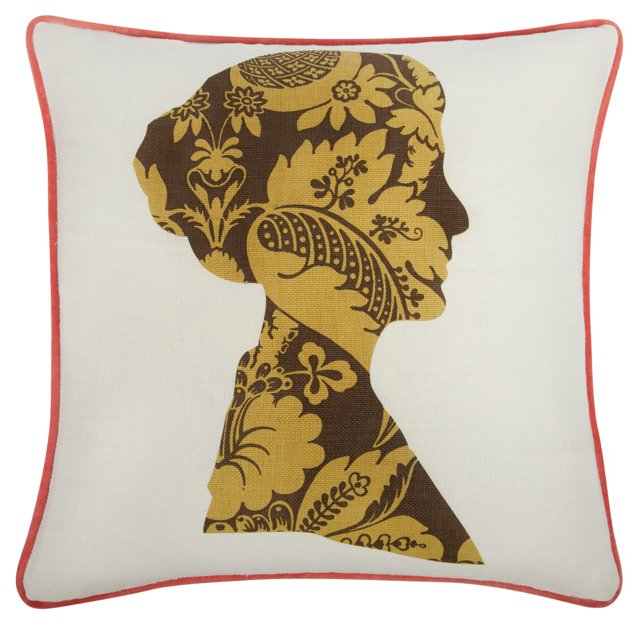 Nelly 18x18 Pillow, Cocoa