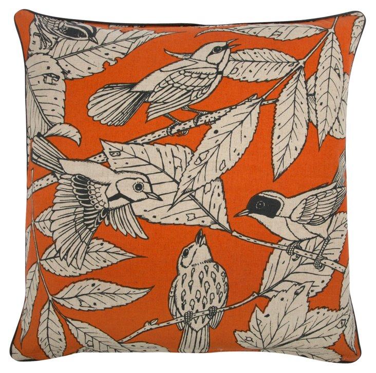 Chirp 22x22 Pillow, Alcazar