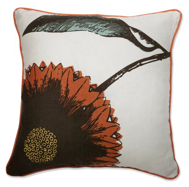Daisy 22x22 Reversible Pillow, Multi
