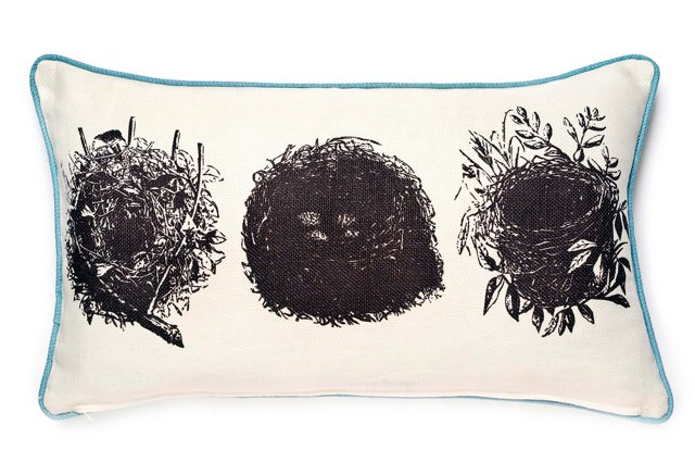 Nesting 12x20 Cotton-Blend Pillow, Multi