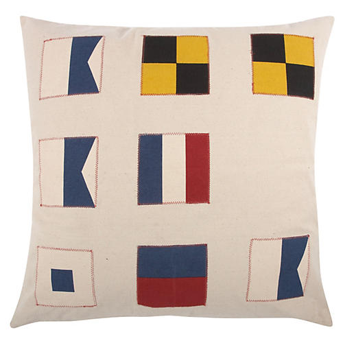 Flags 22x22 Pillow, Multi
