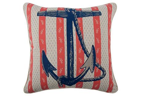 Anchor 18x18 Pillow, Navy
