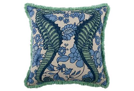 Seahorse 18x18 Pillow, Mint
