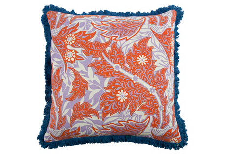 Calico 22x22 Pillow, Coral