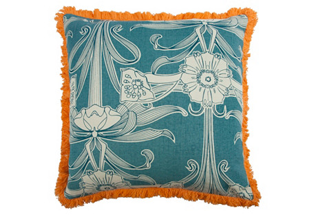 Morris 22x22 Pillow, Aqua