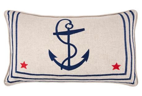 Sailor Shirt 12x20 Pillow, Navy