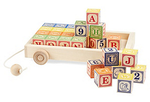 Classic ABC Blocks w/ Pull Wagon