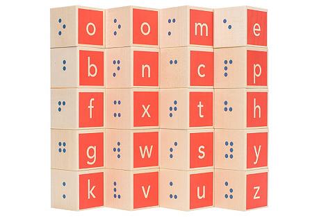 S/28 Braille Alphabet Blocks